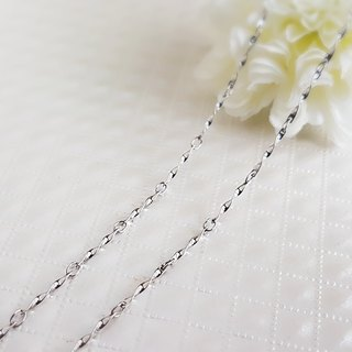 Belle blossoming 1.2mm fine twist chain steel chain single chain 42/45/55/65/75/85cm not afraid of water does not change color