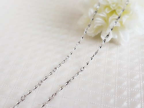 Belle blossoming 1.2mm fine twisted steel chain single chain 42/45/55/65/75/85cm steel chain