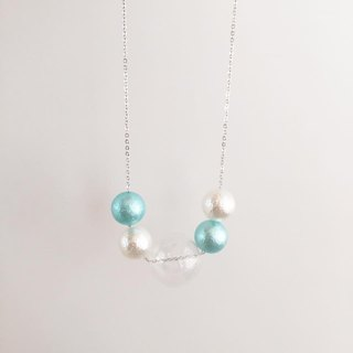 Laperle <<迷幻系列>> 綠色 clubbing 幾何 玻璃球 項鏈 頸鏈 Green Color Glass Ball Necklace Geometric