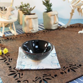 Black glaze black gold teacup - capacity about 80ml