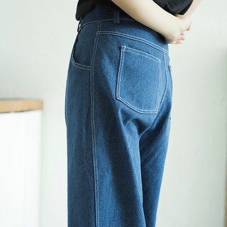 SYAO / washed cotton cowboy radish trousers