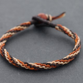 Earth Tone Woven Spiral Bracelets Brown Shade Mix Macrame Cuff