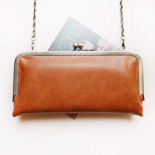 Hand の temperature shoulder bag gold shoulder bag / long clip / mobile phone bag [made in Taiwan]