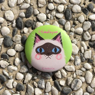 Big Head Cat badge - Himalayan cat Himalayan