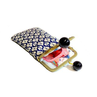 【MY。手作】cell phone case / eyeglass case / kisslock frame case / Bohemian clutch