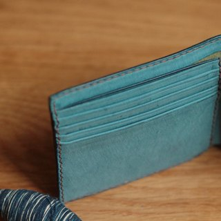 Make Your Choicesss Italian handmade leather two fold wallet containing change position