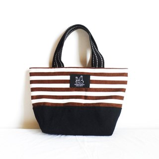 Large striped lightweight handbag