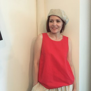 My dear red linen top