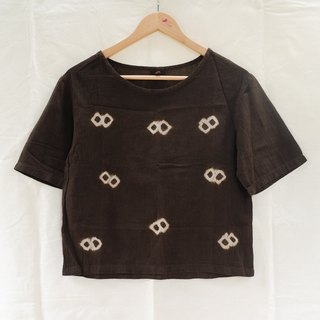 linnil: Bobbles dark brown shirt / ebony fruit dye