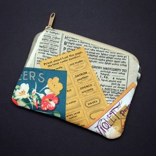 Zipper pouch / coin purse (padded) (ZS-232)