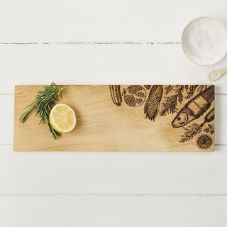 Taiwan's exclusive agent - British Scottish Oak boutique kitchen and oak one forming long 45 cm solid wood shape cutting board / plate / display board (vegetable models)-Gifts recommended