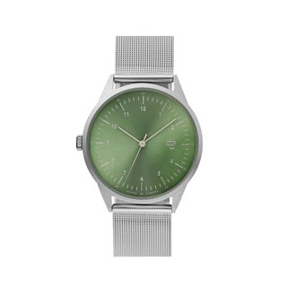 Swedish Brand - Nuno Silver and Green Dial - Silver Milan with Adjustable Watch