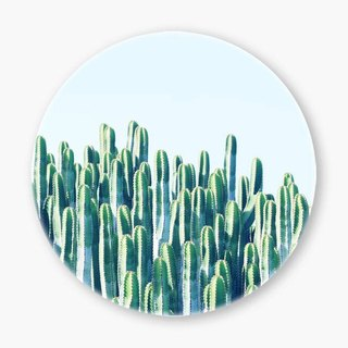 Snupped Ceramic Coaster - Cactus V2