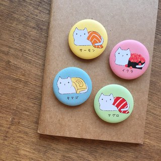 Unused sushi cat small badge