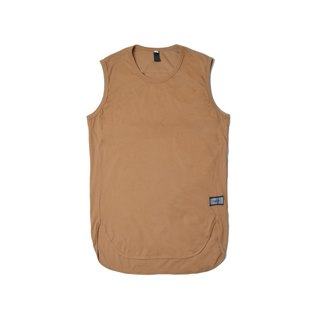 oqLiq - Arc Tank - Bone Brown Long Tank Tank (Khaki)