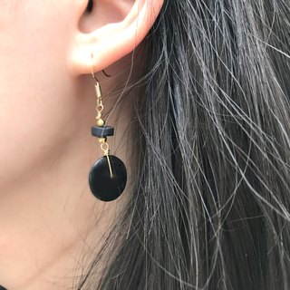Why Not? Also! Coconut Shell Earrings BLACK