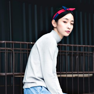 【The MAMA's Closet】Papillon (Blue with Red) / Classic Headband