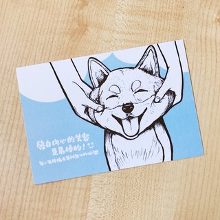 【Animal Series】 Smile Chai dog coloring postcards