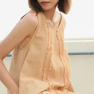 Brownish Cotton Dress / Non-chemical cotton / Hand Woven