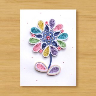 Handmade Roll Paper Card _ Flower_A2 ... Mother Card, Valentine Card
