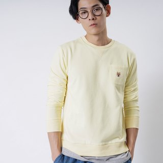 【Pjai】Embroidery Sweatshirt - Yellow//Pink//Grey (SW070)