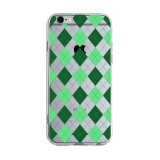 Green Grid - iPhone X 8 7 6s Plus 5s Samsung note S7 S8 S9 plus HTC LG Sony Mobile Phone Case Cover