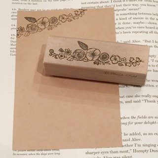 Flower and feather stamp