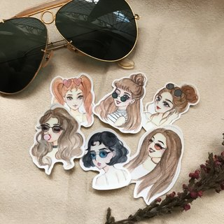 ● Sunglasses girl / 6 into the sticker