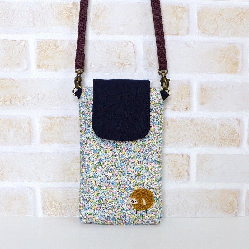 Embroidered Sheep Mobile Phone Bag - Small Garden (with strap)