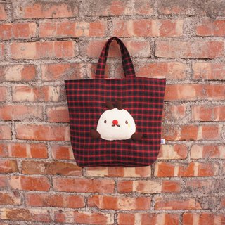 Double-sided bag - Red plaid