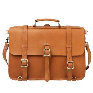 JIMMY RACING British retro style leather portable diagonal back doctor bag - camel 0502222