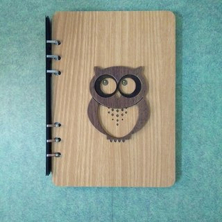 Taiwan stack [customization - color and pattern can be replaced] A5 two loose-leaf 6-hole notebook - owl notebook / album / stationery / folders / gifts / gifts