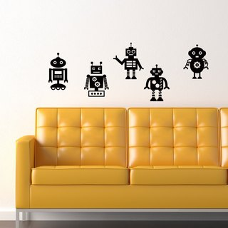 """Smart Design"" creative wall stickers ◆ Seamless retro robot 8 color options"