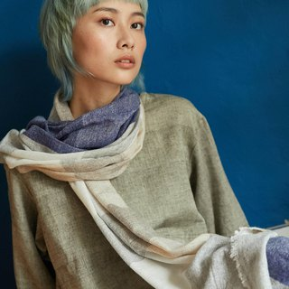 natural dyed soft wool scarf | tidal |  fair trade