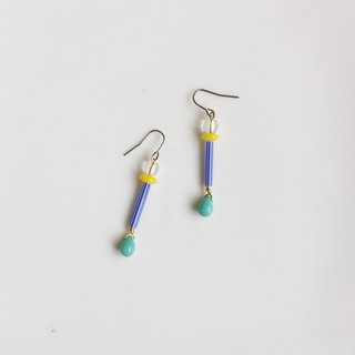 Mr. Long Legs Natural Stone Antique Bead Earrings