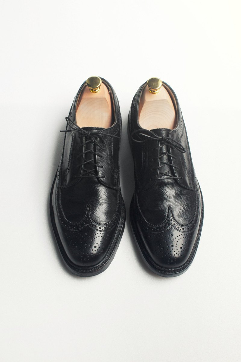 70s American Wingtip Blucher Leather Wingtip Blucher US 8.5D EUR 41