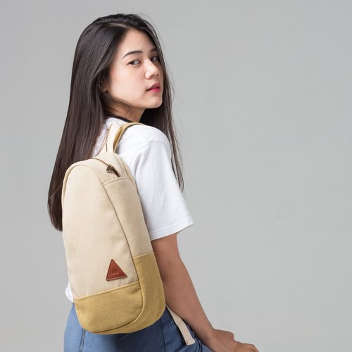 JUN Creamy Mustard Rustic Canvas Mini Shoulder Bag Shoulder Bag Shoulder Bag