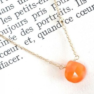 14KGF Carnelian Necklace