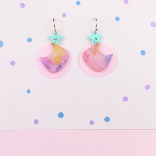 Colorful and gorgeous summer ear earrings.