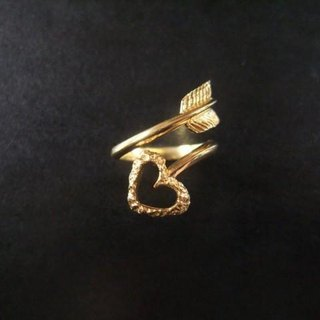 Love Arrow ★ Heart Arrows ★ ring (Gold)