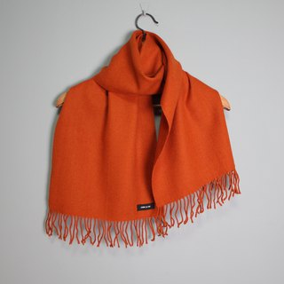FOAK Vintage COMME CA ISM Sunset Warm Orange Scarf