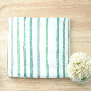 [Physical supplies package +] hand-painted stripes. Green