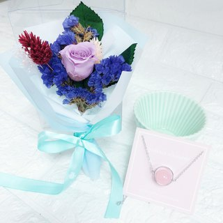 Pink Crystal Preserved Flower Gift Box