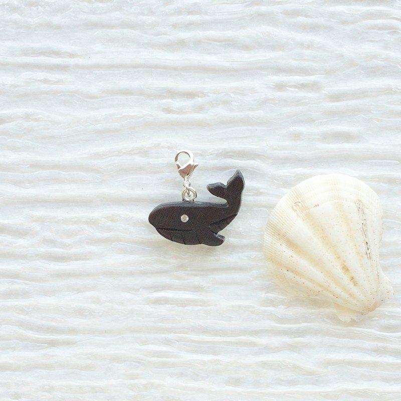 手工木製吊飾 座頭鯨 吊飾  禮物訂製