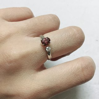 Tourmaline Finger Ring with zircon Handmade in Nepal 92.5% Silver