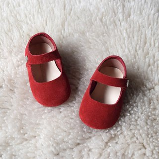 Red Classic Mary Jane Shoes for Baby Girls NB-6M, Baby Shower Gift
