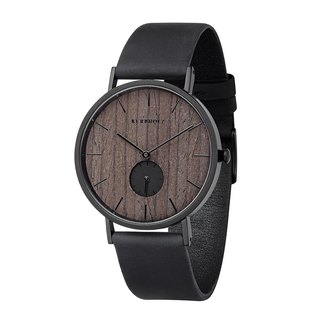 KERBHOLZ - Wood Watch - FRITZ - Walnut - Night Black 40mm)