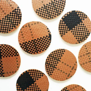 Coffee Unique Handmade art Geometric Scandinavia Drink Coaster Retro