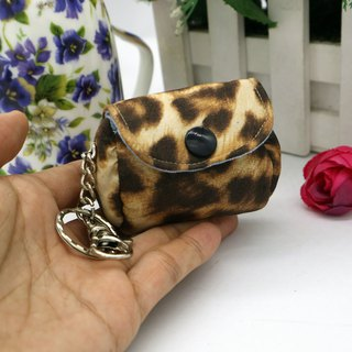 Leopard Mini Wallet Strap Charm Key Ring*SK*