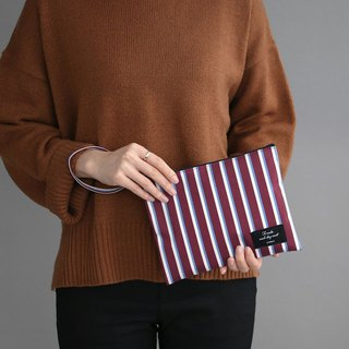 ICONIC Handy Universal Bag L-Red Wine Stripe, ICO51586